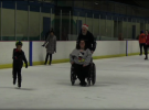 Holiday fun on ice for young cancer patients
