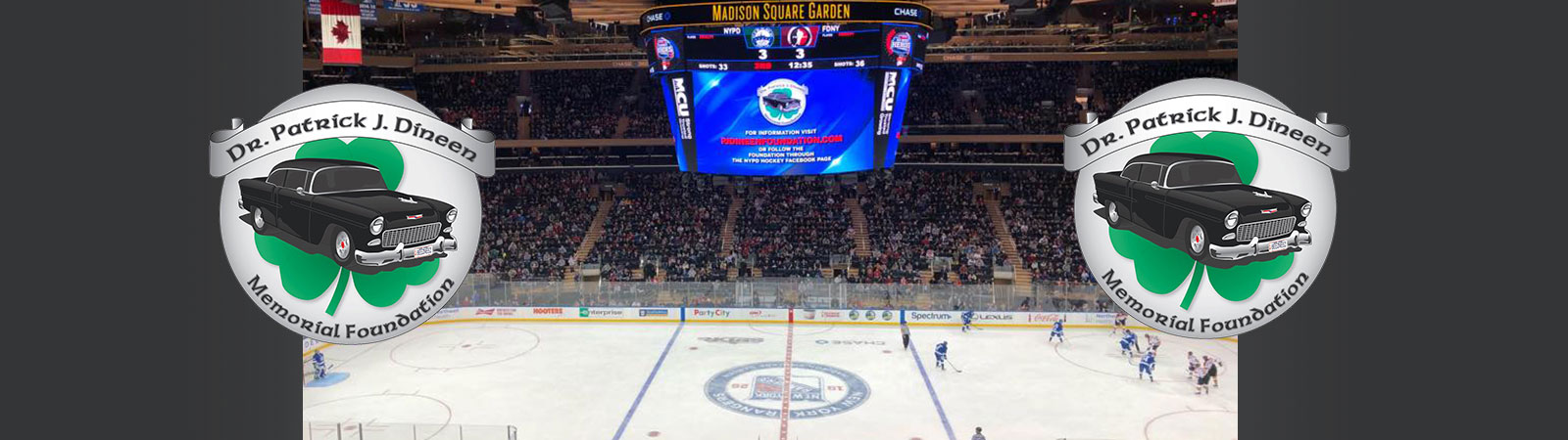 PJ Dineen Foundation Featured at NYPD vs FDNY Hockey Game!